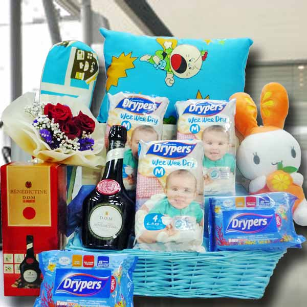 Baby Boy Gifts Delivery : Singapore baby gifts hamper new born flowers