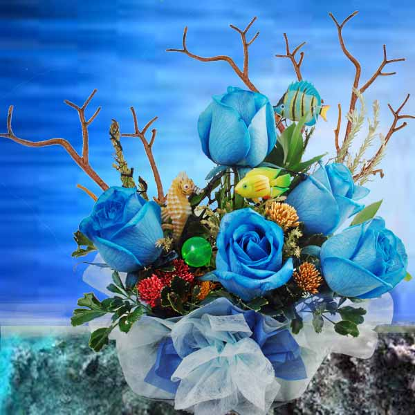 Buy Blue Roses in Singapore