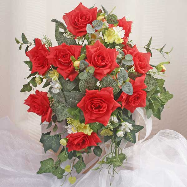 Red Roses Silk Posy