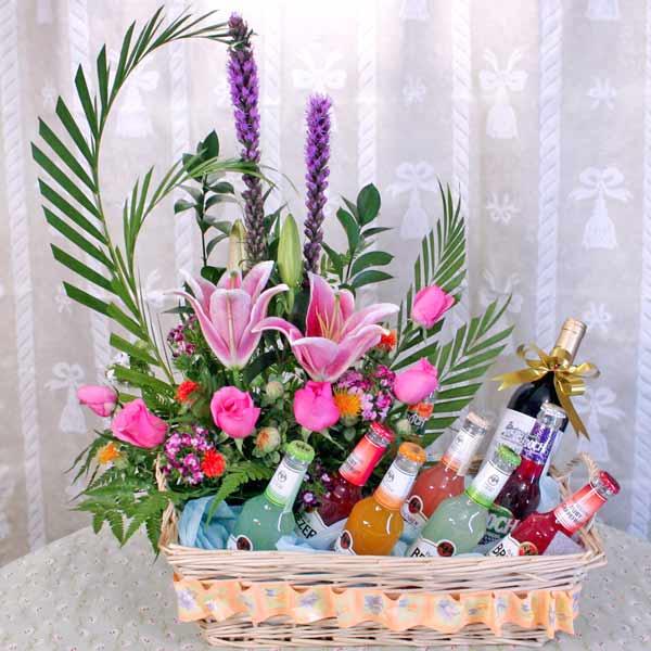 Flower Baskets Singapore : Wine basket baskets singapore