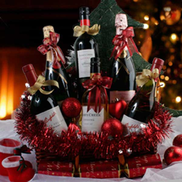 Wines Hamper Delivery Singapore, Christmas Gift Wine Basket