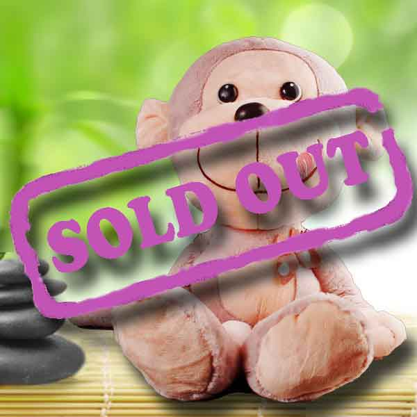 Add-on 30cm Lavender Color Smiling Monkey