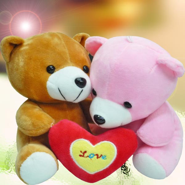Add-On 15cm Couple Bear With Mini Love Pillow