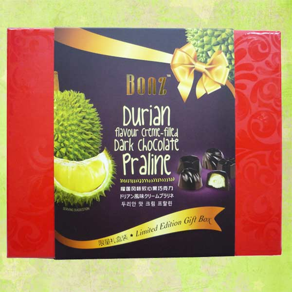 Add-On Bonz Durian Flavour Creme-Filled Praline Dark Chocolate 200g