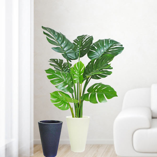 Artificial Monstera Plant With Pot 120cm Total Height