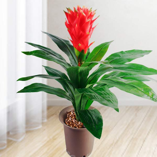 Artificial 55cm Height Ginger Flowering Plant