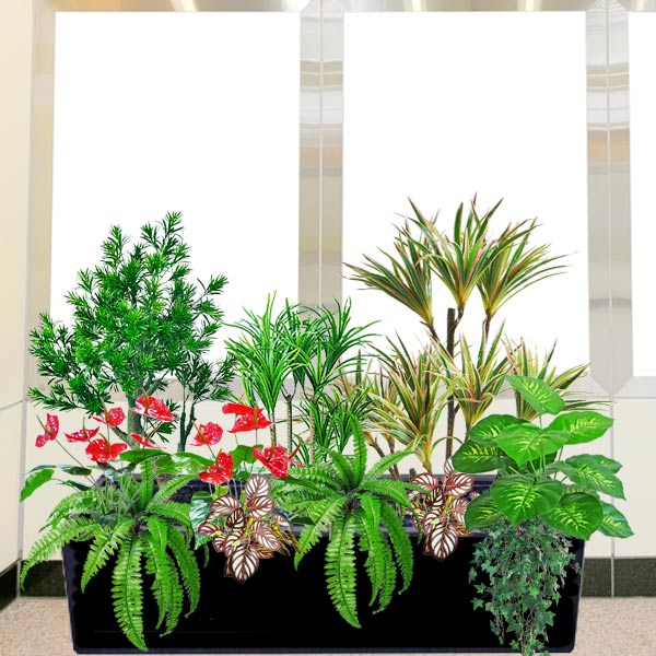 Artificial Pine Tree Group in Planter Box<br>(Total Hight: 100cm)