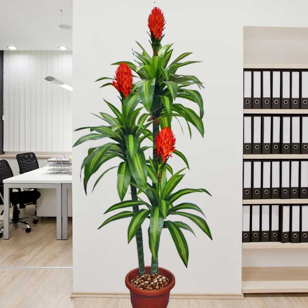 鴻运当头 Artificial Ginger Red Torch flower 180cm