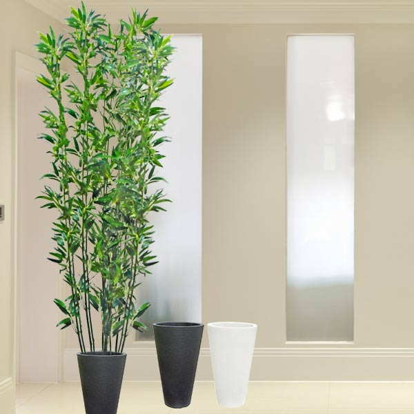 Artificial Bamboo Trees 9 Feet Height<br>(Choose Black or White Pot)