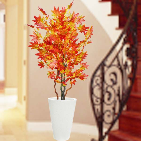 Artificial Autumn Red Maple tree 140cm Height