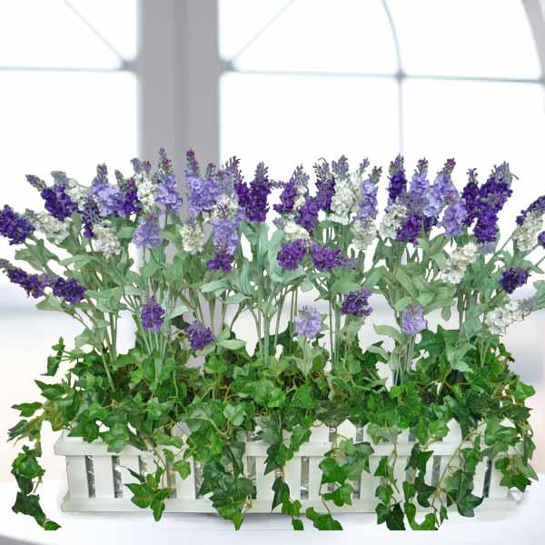 Silk artificial lavender flower arrangement artificial lavender arrangement 24lx7wx12h mightylinksfo