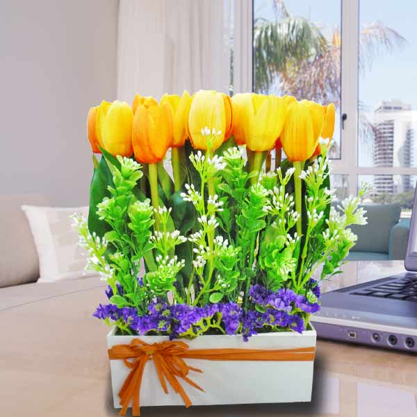 Artificial Tulip Arrangement