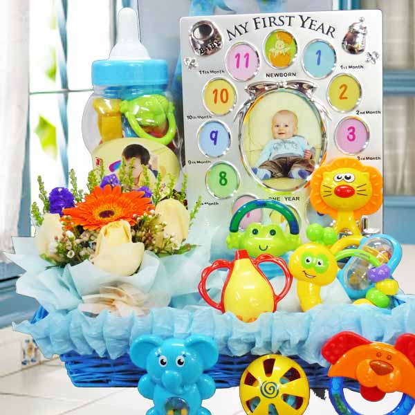 Baby Gift-Set BB059 With Flowers