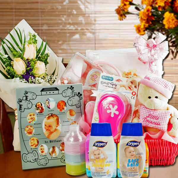 Baby Gift Hamper Delivery : Singapore florist with baby gift basket hampers delivery