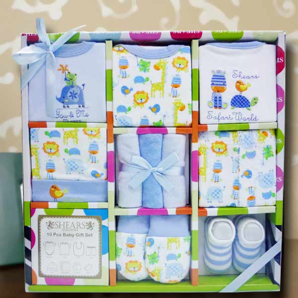 10 Pieces Baby Boy Gift Set