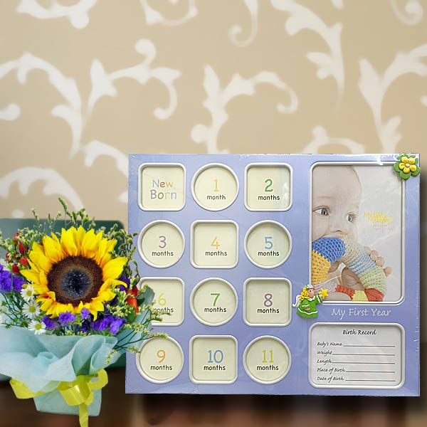 Baby Photo Album & Sunflower