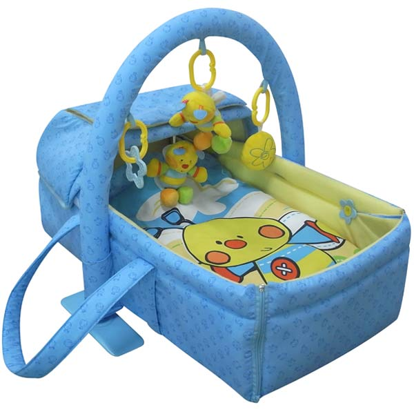 2 in 1 Mosses Basket With Toys, Pillow And Blanket.