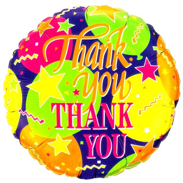 Add-on Helium filled 18 inches Mylar (Thank You) Balloon