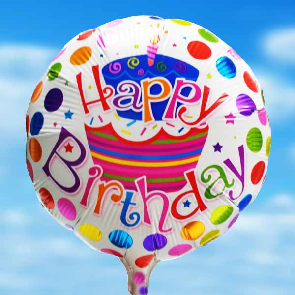 "Add-On 18"" Helium Filled Happy Birthday Floating Balloon"