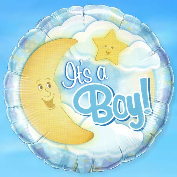 "Add-on 18"" It is A BOY Helium Floating Balloon"