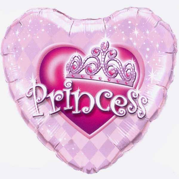 "Add-On 18"" Helium Filled (Princess) Heart Shape Balloon"