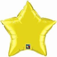 Add-On 20 Inches Helium Filled Gold Color Star-shape Floating Balloon