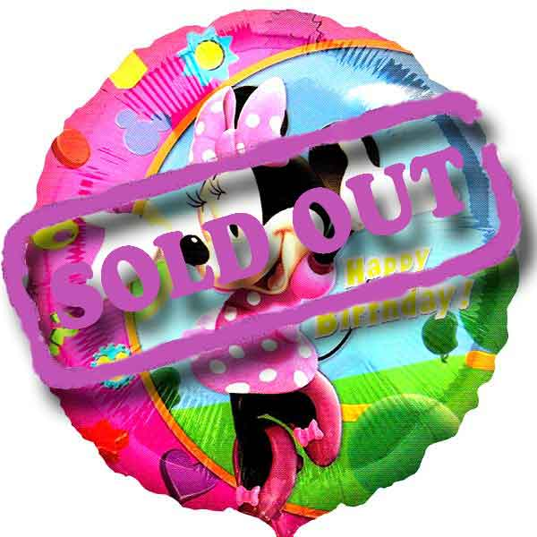 "Add-On 18"" Helium Filled (Minnie H.Birthday) Mylar Floating Balloon"