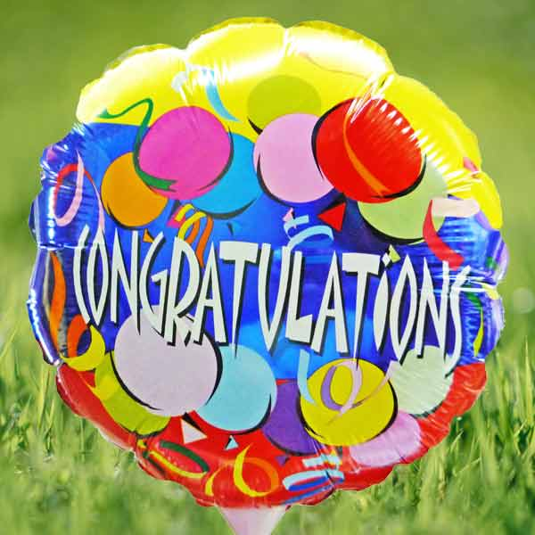 "Add-On 10"" Congratulations Balloon"