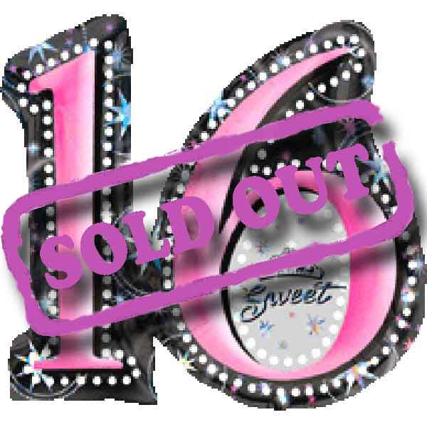 "Add-On 28""(Sweet 16) Floating Balloon -Need 3 Days Advance Order"