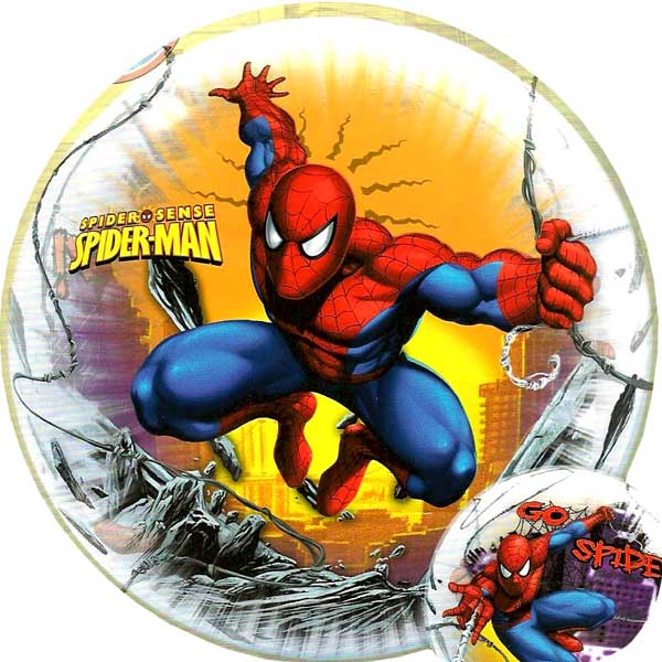 "Add-On 22"" Helium Filled Round (SPIDERMAN) Floating Bubble Balloon"