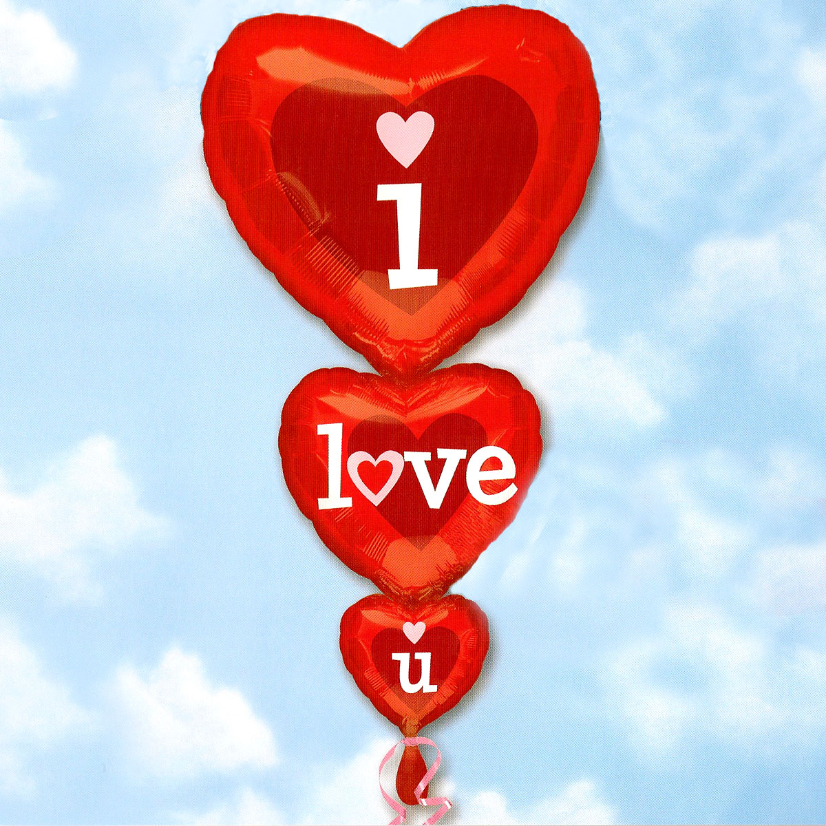 Add-On 50x90cm Helium Filled (I Love You Stacker) Mylar Floating Balloon