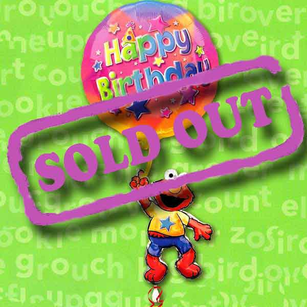 "18""x39"" Elmo Happy Birthday Floating Balloon"