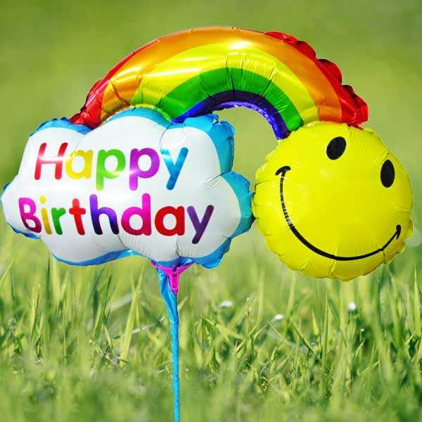 Add-on 33cm x 23cm ( Happy Birthday Day) Rainbow Balloon