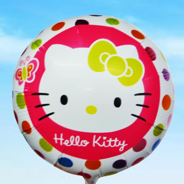 Add-on 18 Inch Helium Filled Round (Hello Kitty) Mylar Floating