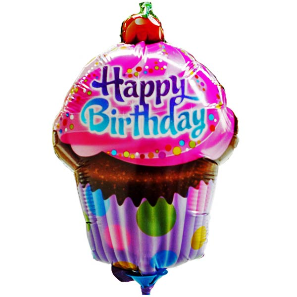 Add-on Happy Birthday 9 inches foil balloon