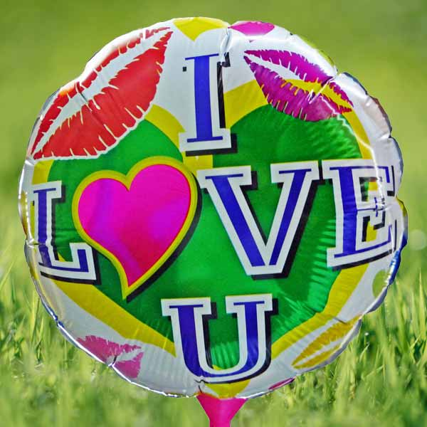"Add-on 10"" inches (I LOVE YOU) foil balloon"