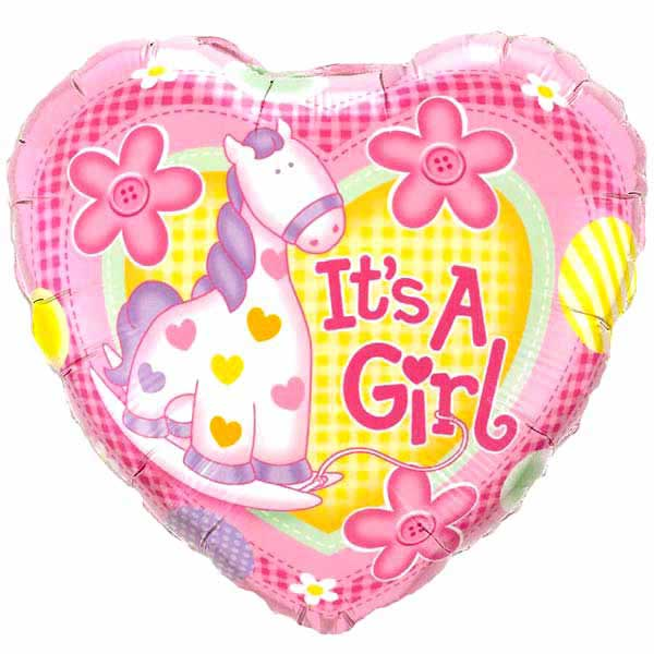 "Add-On It is A Girl 9"" Balloon"