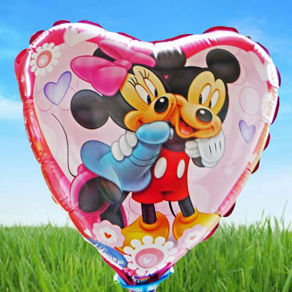 "Add-on Mickey n minnie mouse 9"" foil balloon"