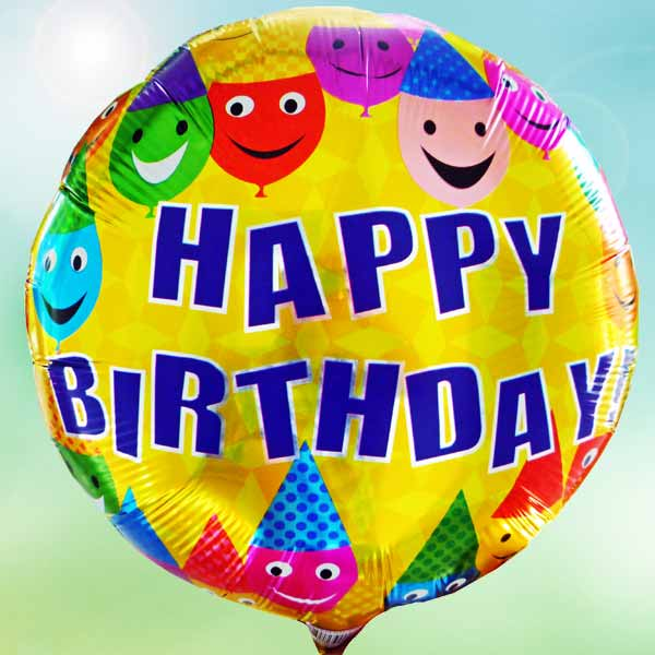 "Add-On 18"" Helium Filled Round (HAPPY BIRTHDAY) Mylar Floating Balloon"