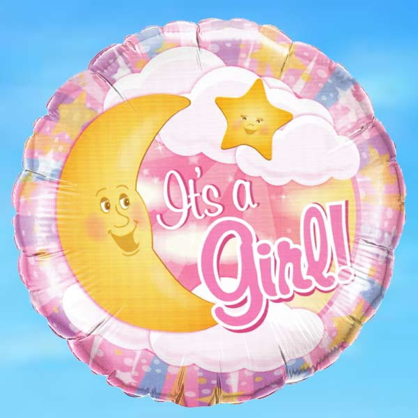 "Add-on 18"" It is A Girl Helium Floating Balloon"