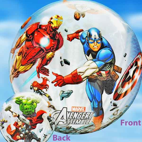 Add-On 22 Inches Helium Filled Round (Avengers) Floating Bubble Balloon