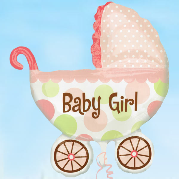 "Add-On 28""x31"" (Baby Girl) Helium Floating Balloon"