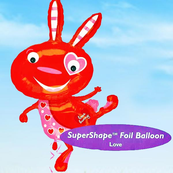 Add-On 58x102cm (Love Bunny) Floating Balloon