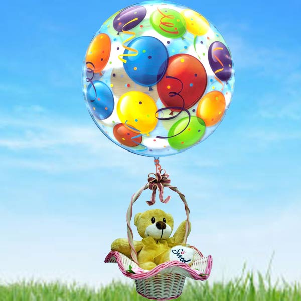 "22"" Helium Balloon & Bear"