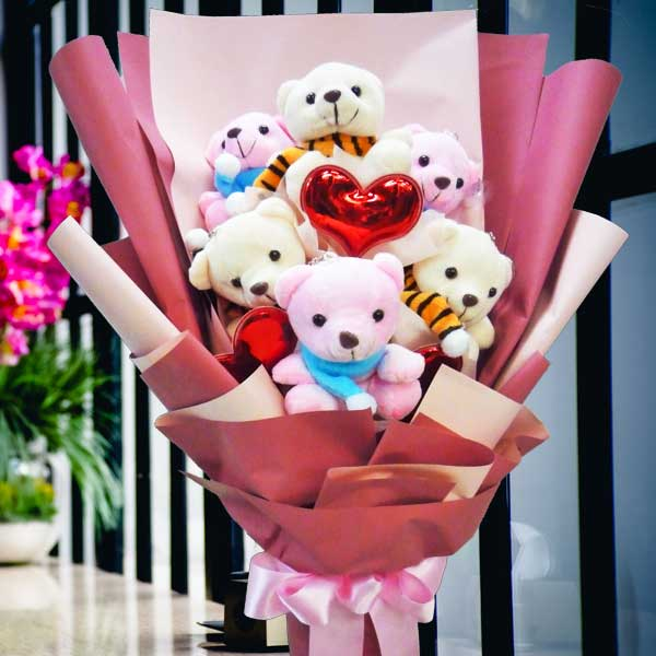 6 Mini Bear Bouquet