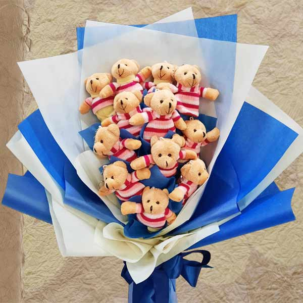 10 Mini Bear Bouquet