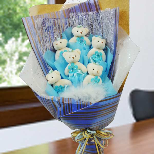 "6 Mini 4"" Bear Bouquet"