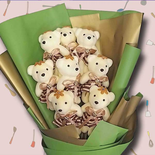 12 Mini Bear Bouquet