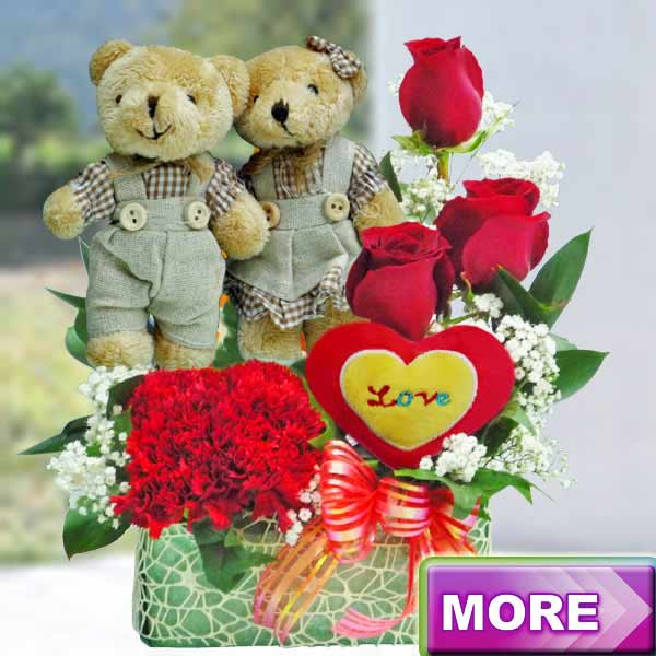 Couple Bear & Flower