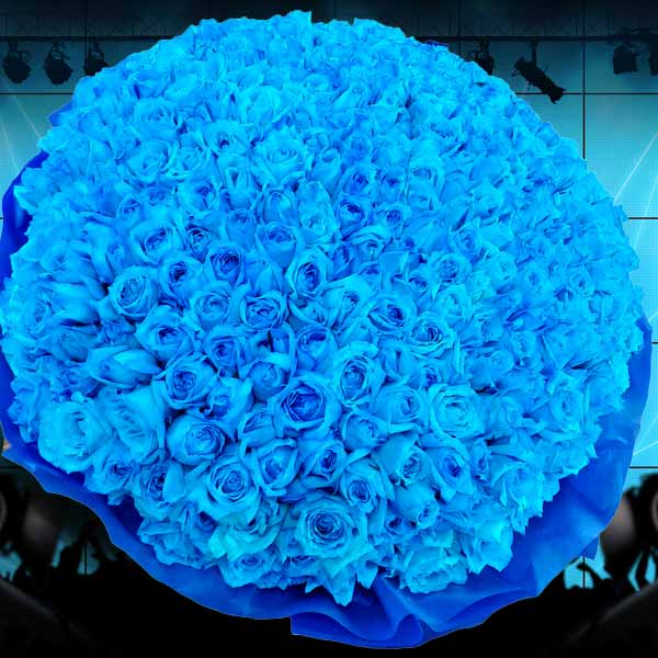 365 Blue Roses Standing Bouquet (Need 4 Days Advance Order)